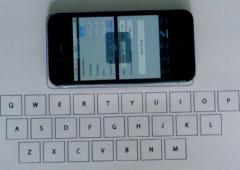 Первые попытки реализовать невидимую клавиатуру iPhone при помощи акселерометра (видео)